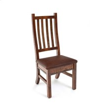 Saratoga - Side Chair With Leather Seat