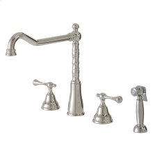 4-pc dual stream mode kitchen faucet with side spray