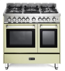 "Antique White 36"" Gas Double Oven Range - 'N' Series"