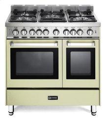 "Antique White 36"" Gas Double Oven Range - 'N' Series"