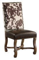 Mesquite Ranch Leather and Faux Cowhide Side Chair Product Image