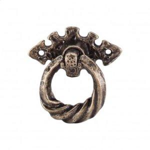 Tudor Ring Horizontal 2 1/8 Inch w/Backplate - German Bronze