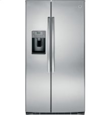 RED HOT BUY-BE HAPPY! GE® ENERGY STAR® 25.3 Cu. Ft. Side-By-Side Refrigerator