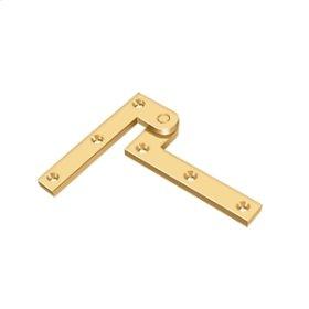 "3 7/8"" x 5/8"" x 1 5/8"" Hinge - PVD Polished Brass"