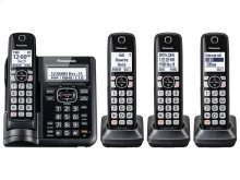 Cordless Phone with Answering Machine - 4 Handsets - KX-TGF544B