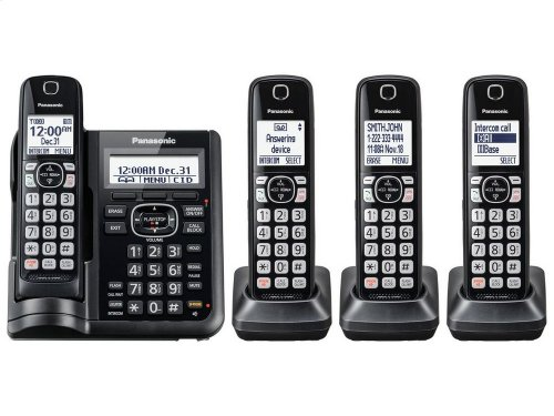 Cordless Phone with Answering Machine - 4 Handsets - KX-TGF544B