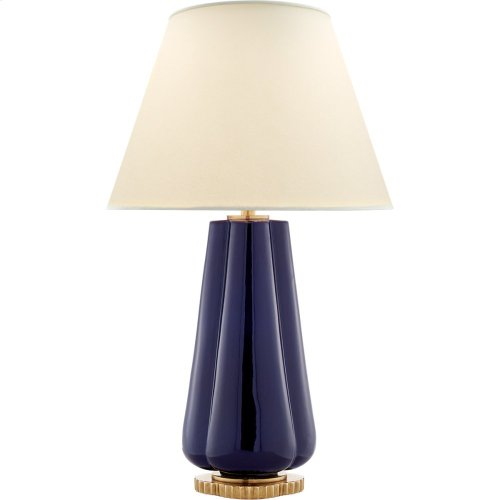 Visual Comfort AH3127DM-PL Alexa Hampton Penelope 30 inch 60 watt Denim Porcelain Table Lamp Portable Light