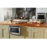"""KitchenAid 24"""" Under-Counter Microwave Oven Drawer - Stainless Steel"""