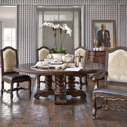 "Castilian Round Dining Table - 86"""