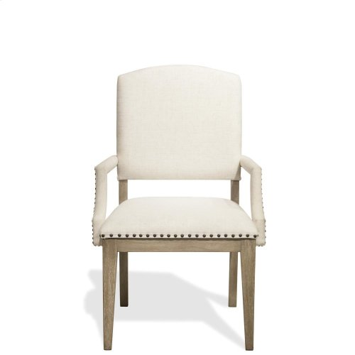 Myra - Upholstered Arm Chair - Natural Finish