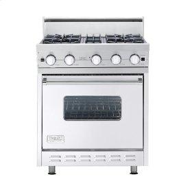 """White 30"""" Open Burner Range - VGIC (30"""" wide, four burners)"""