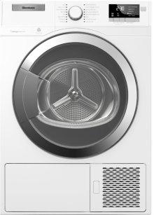 24in Compact Heat Pump Ventless Dryer, 4.1 cu. ft., White w/ Chrome