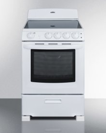 "24"" Wide Smooth-top Electric Range In White, With Lower Storage Drawer and Oven Window; Available Winter 2018"