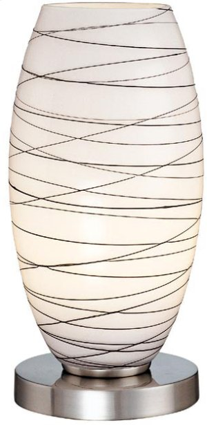 Accent Table Lamp, Ps, Frosted Glass Shade, E27 Cfl 13w