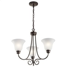 Bixler 3 Light Chandelier with LED Bulbs Olde Bronze®