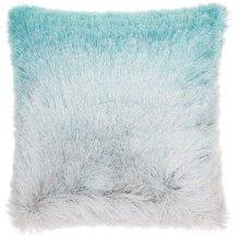 "Shag Tr011 Turquoise/silver 20"" X 20"" Throw Pillows"