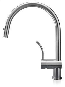 The Vela Pd Is Similar To the Vela D, But With A Wider Spout and Curved Handle That Give It A Unique Appeal and Make It Ideal for Larger Sinks