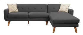 Sofa/chaise Lsf Loveseat - Rsf Chaise Charcoal W/ 2 Pillows