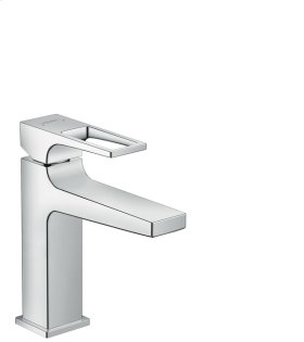 Chrome Single-Hole Faucet 110 with Loop Handle and Pop-Up Drain, 1.2 GPM