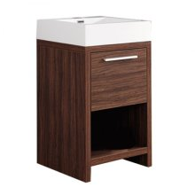 Single 23.5 in. W White Finish Vanity