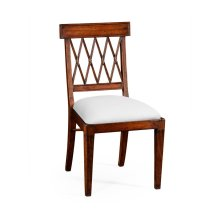 Regency Style Lattice Back Dining Side Chair - COM