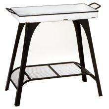 Black & White Enamel Tray Table.