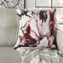 "Luminescence Pn102 Multicolor 18"" X 18"" Throw Pillow"