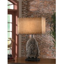 """Indian Chief Table Lamp 30.5""""Ht"""