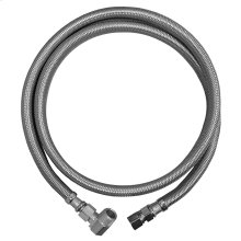 """1/2"""" x 3/8"""" OD x MIP Flexible Stainless Steel Dishwasher Connector 72"""" Length"""