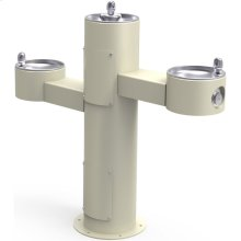 Elkay Outdoor Fountain Tri-Level Pedestal Non-Filtered, Non-Refrigerated Beige