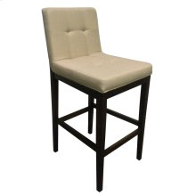 Transitional Beige and Cappuccino Bar-height Stool