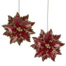 Poinsettia Ornament. (12 pc. ppk.)