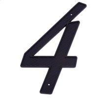 """Black 4"""" House Number """"4"""""""