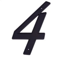 "Black 4"" House Number ""4"""