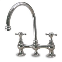 Tower - High-Arc Bridge Faucet with Metal Side Spray - Oil Rubbed Bronze