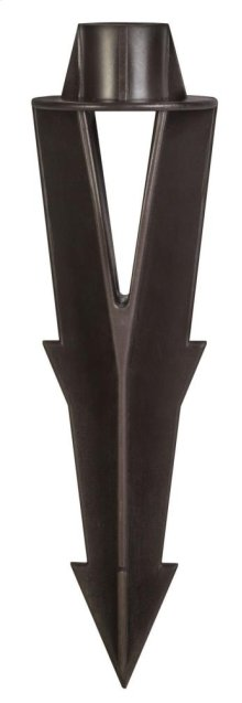 "Bronze 9"" Ground Spike Lamps and Accessory"