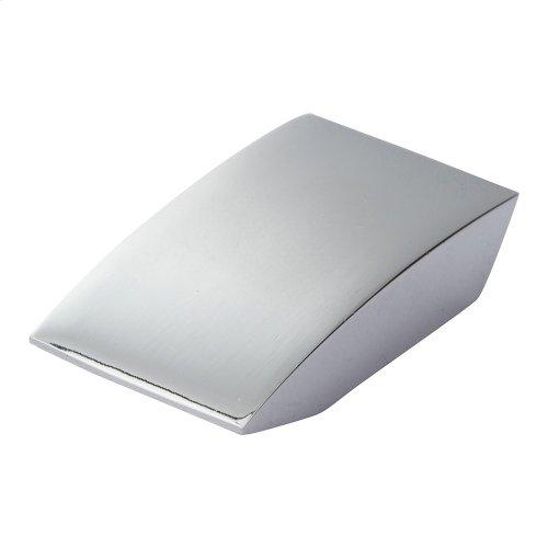 Angled Drop Knob 15/16 Inch - Polished Chrome
