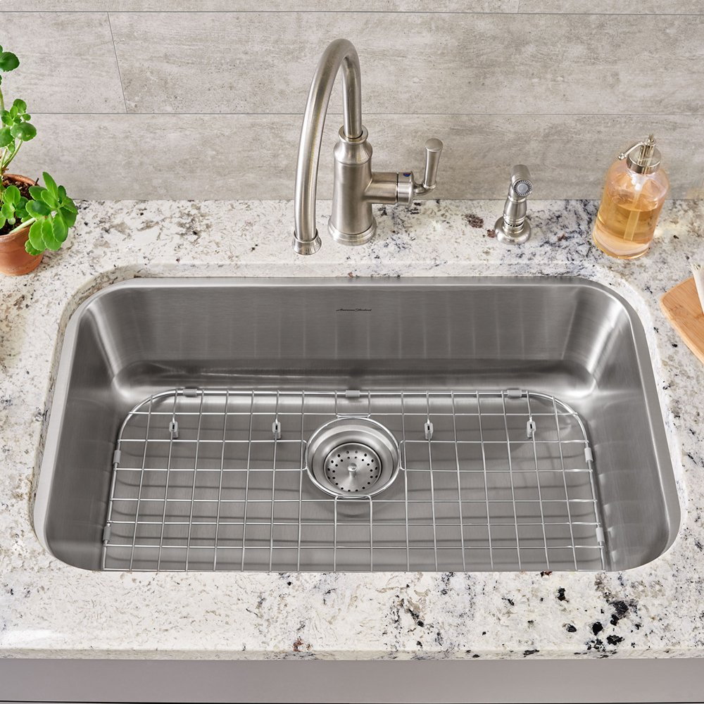 sink grid for portsmouth 23x18 stainless steel kitchen sink american standard   stainless steel 8452231700075 in stainless steel by american standard in      rh   activeplumbing com