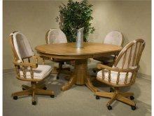 Intercon Dining Room Classic Oak 48x70 Solid Oak Butterfly Leaf Table