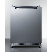 Outdoor/indoor Commercial Beer Dispenser for Built-in or Freestanding Use, Digital Thermostat, and 304 Grade Stainless Steel Exterior; No Tap Kit Included