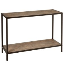 Console Table with Woven Pattern.
