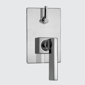 E-Mini Thermostatic - Integrated Rectangle Plate - Trim only with Stixx handle