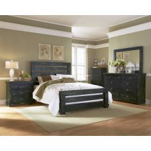5/0-6/6 Queen and King Rails - Distressed Black Finish