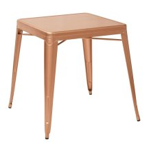Bristow Antique Metal Table In Copper Finish (kd)