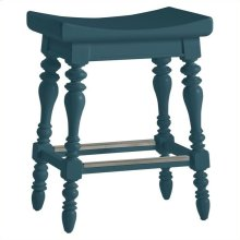 Retreat - 5 O'clock Somewhere Counter Stool In English Blue