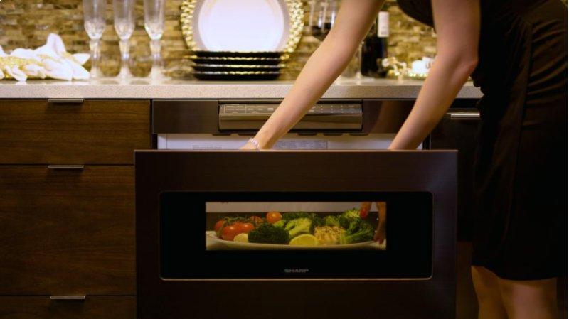 1000w Sharp Black Stainless Steel Microwave Drawer