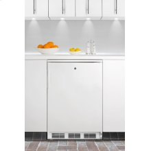 Commercially Approved Solid Door Wine Cellar for Built-in Use, With White Exterior and Front Lock