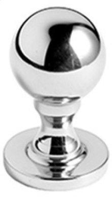 "Antique Brass Unlacquered Cupboard knob, 3/4"" diameter"