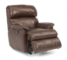 Chicago Leather Power Rocking Recliner