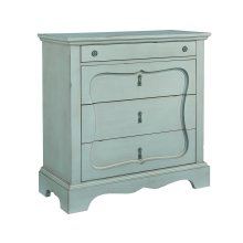 French Blue Silhouette 4-Drawer Chest